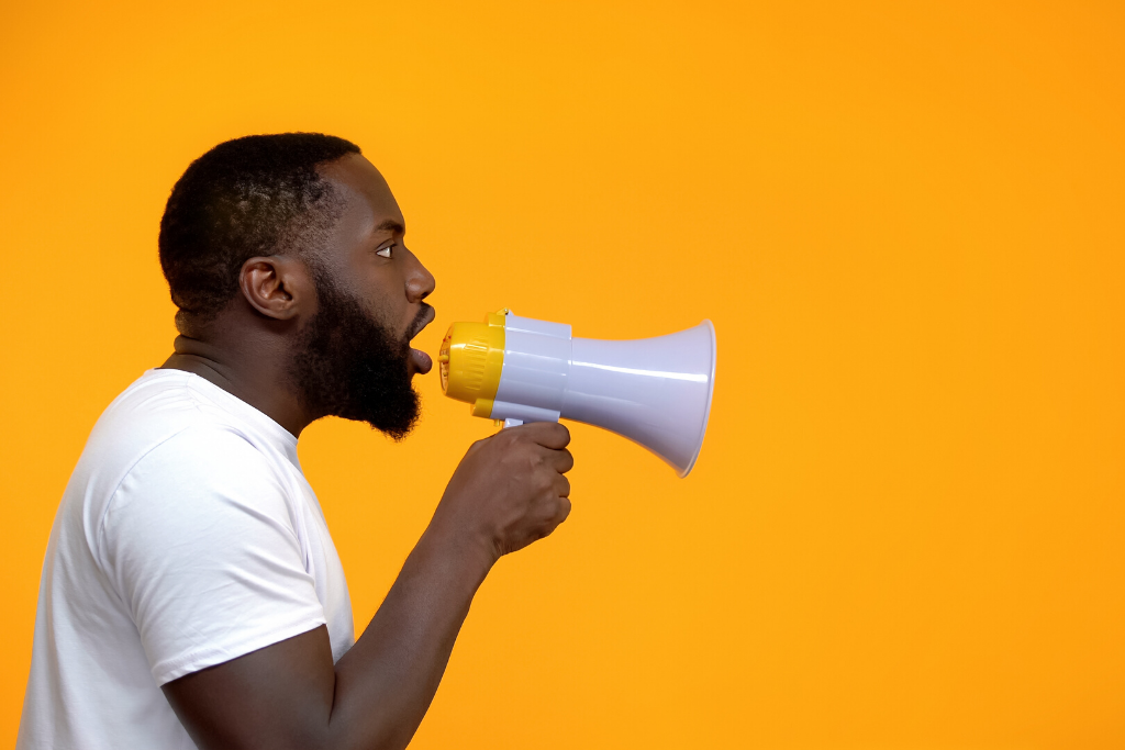How to Use a Call-to-Action button, man with a megaphone