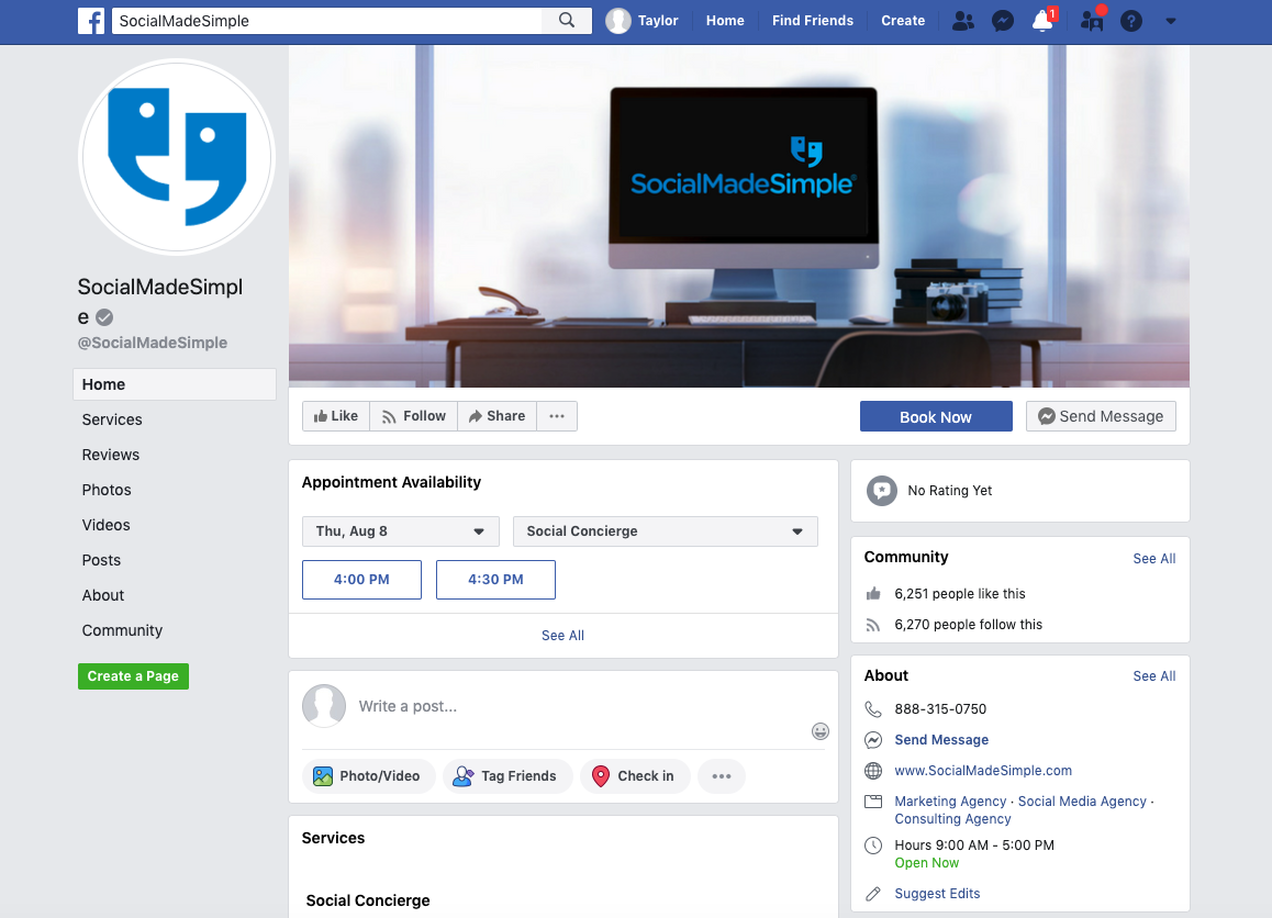 SocialMadeSimple Facebook Page