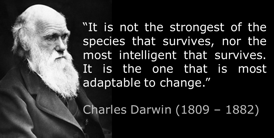 Charles Darwin, Adapt or Die