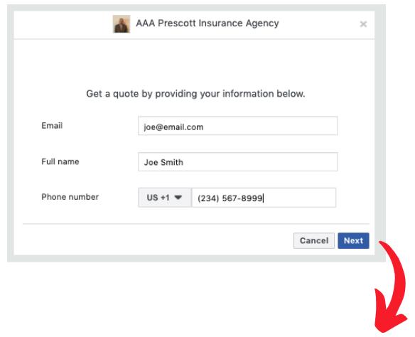 insurance agency, auto insurance, Facebook, lead generation, lead gen