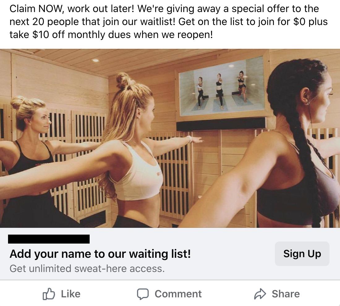fitness franchise ads