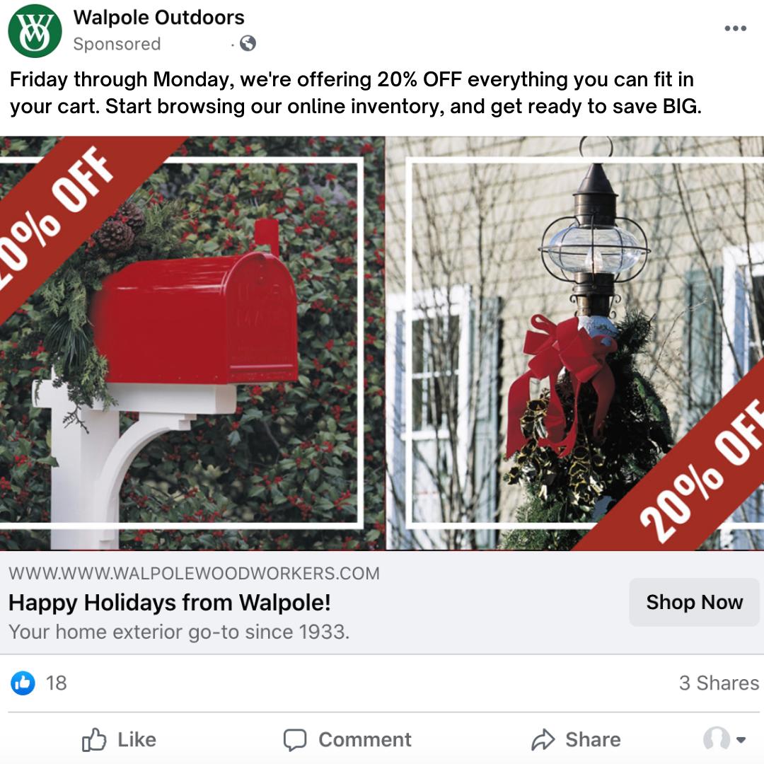 E-commerce Facebook ad