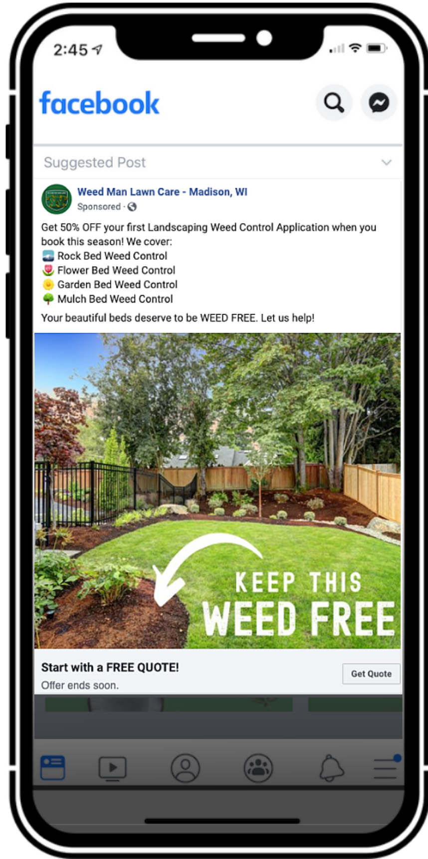 Weed Man Case Study Ad Example