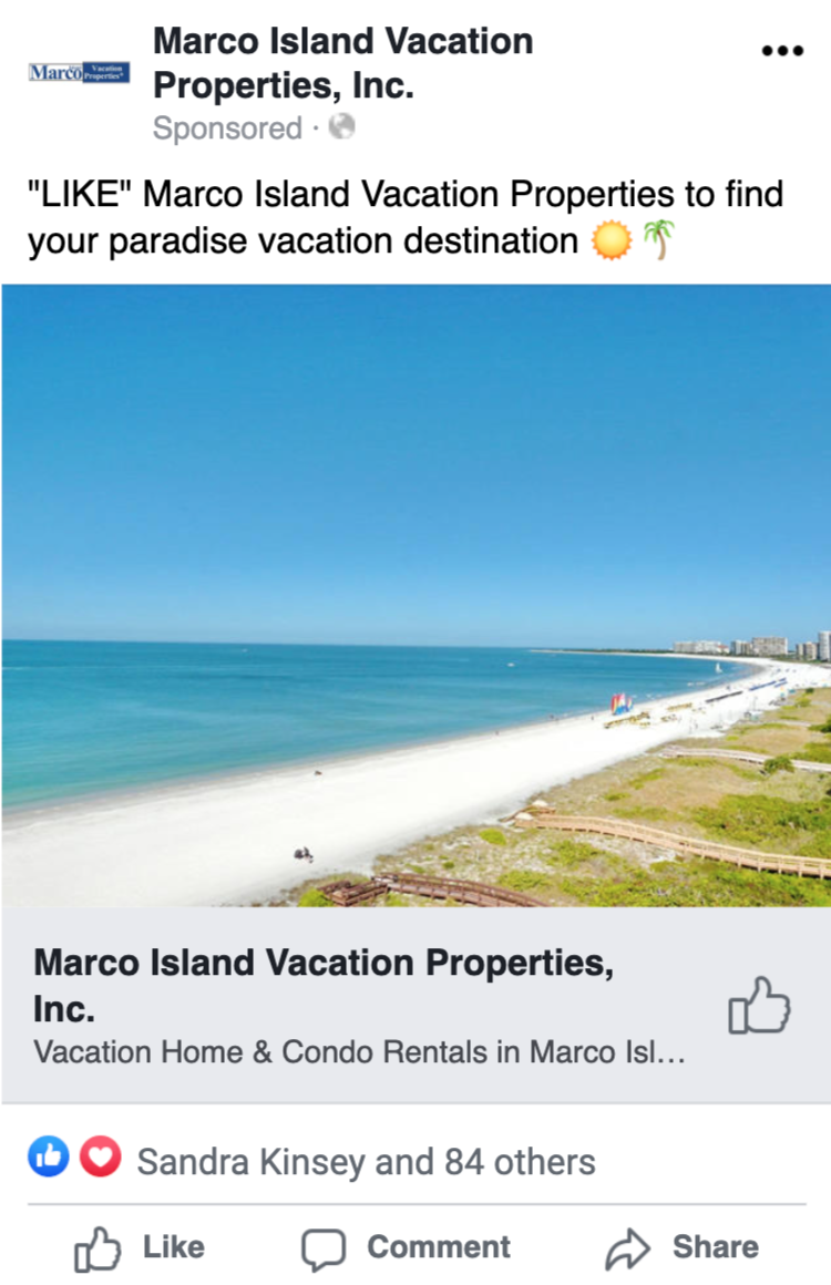 Vacation Properties Rental Business Generates Over 17,000 Website Visits Per Year Using Paid Social Advertising