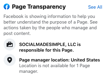 Page Transparency