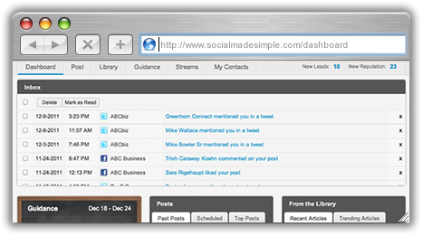 The SocialMadeSimple Dashboard